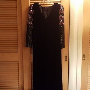 Formal full length evening dress